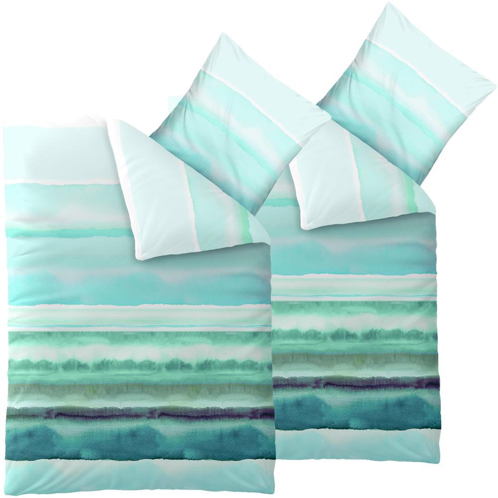 baumwolle renforc bettw sche garnitur 155x220 rei verschluss kotex fashion ebay. Black Bedroom Furniture Sets. Home Design Ideas