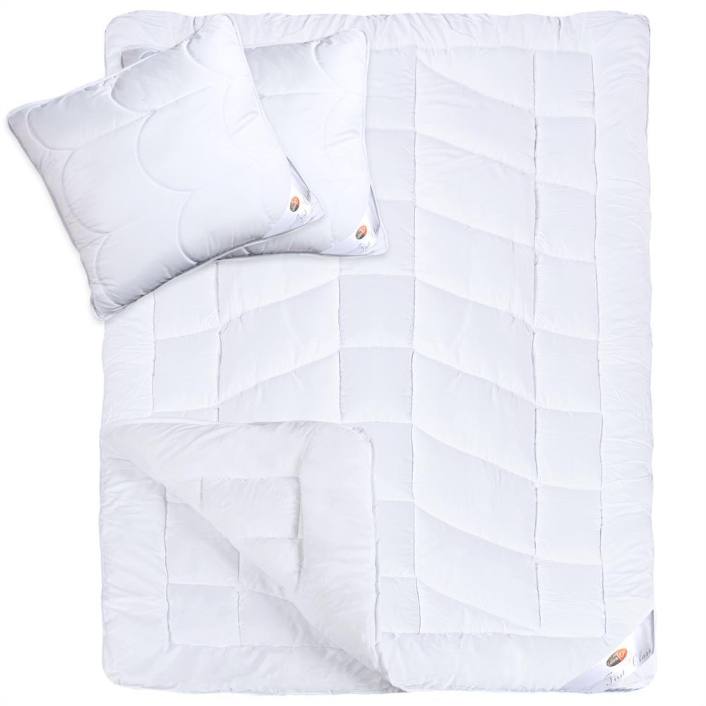 4 jahreszeiten steppdecke set mit kissen kopfkissen microfaser first class ebay. Black Bedroom Furniture Sets. Home Design Ideas