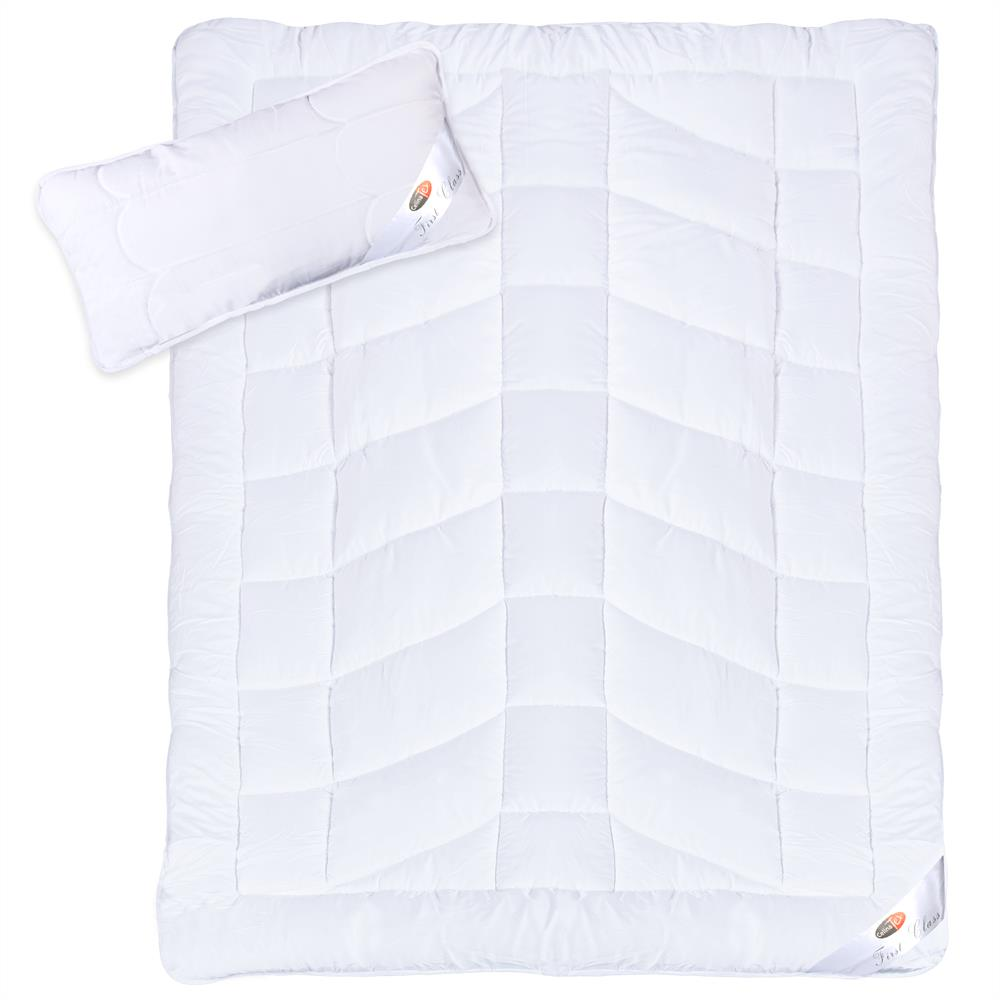 steppdecke bettdecke duo winter kissen 40x80 80x80 set microfaser first class ebay. Black Bedroom Furniture Sets. Home Design Ideas