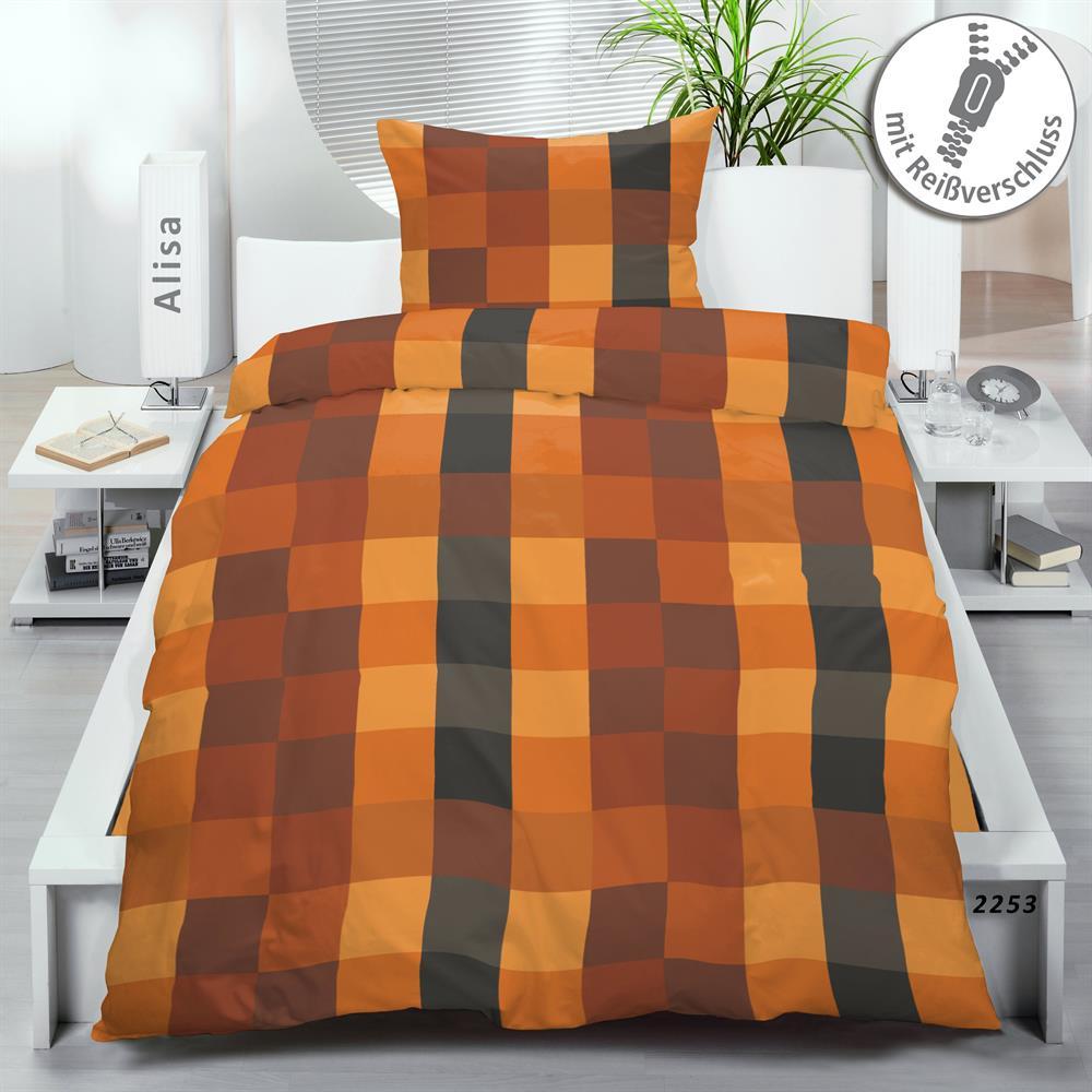 bettw sche garnitur microfaser 155x220 cm rei verschluss. Black Bedroom Furniture Sets. Home Design Ideas