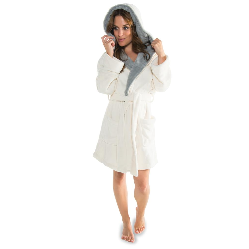 bademantel morgenmantel sauna wellness spa xs xxxl damen coralfleece miami ebay. Black Bedroom Furniture Sets. Home Design Ideas