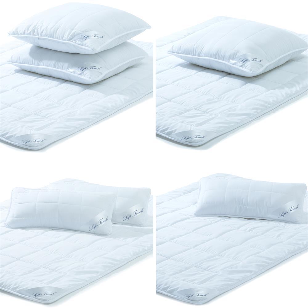 steppdecken set microfaser sommer decke mit kopfkissen rei verschluss soft touch ebay. Black Bedroom Furniture Sets. Home Design Ideas