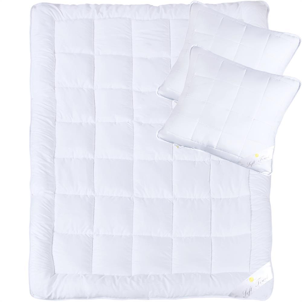 steppbetten set duo decke kopfkissen microfaser winter rei verschluss soft touch ebay. Black Bedroom Furniture Sets. Home Design Ideas