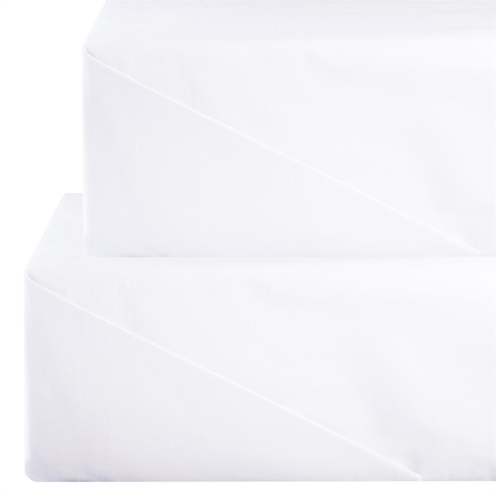 bettlaken haustuch liegeauflage ohne gummizug baumwolle linon wei superior ebay. Black Bedroom Furniture Sets. Home Design Ideas