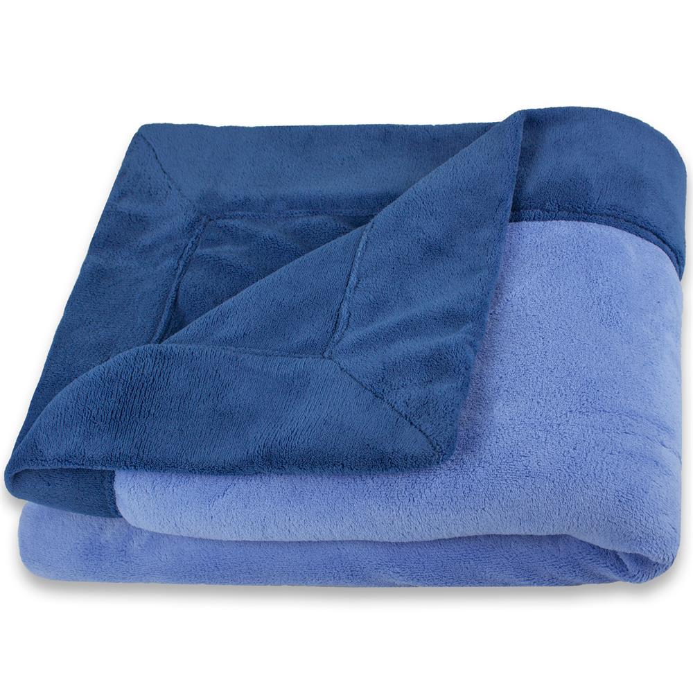 Kuscheldecke Sofadecke Tagesdecke Wohndecke Fleece Microfaser zweifarbig Toronto  eBay