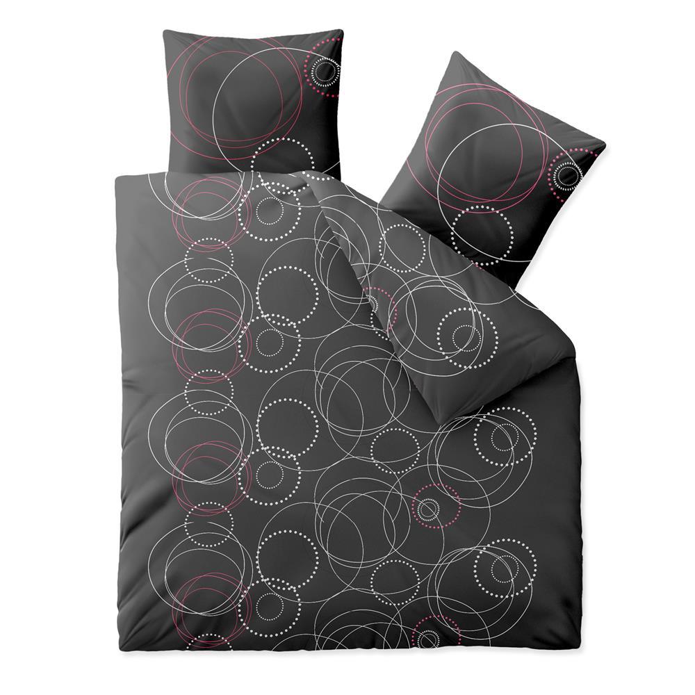 bettw sche garnitur baumwolle rei verschluss 3 teilig 200x220 bergr e trend ebay. Black Bedroom Furniture Sets. Home Design Ideas