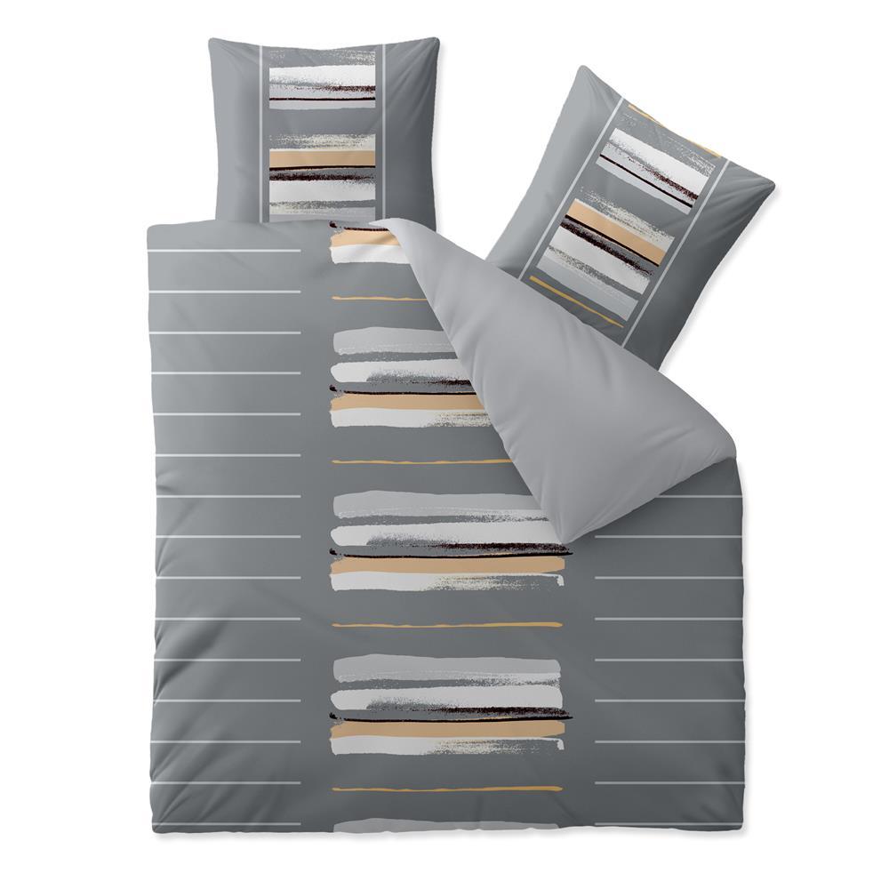 bettw sche garnitur baumwolle rei verschluss 3 teilig 200x220 bergr e trend. Black Bedroom Furniture Sets. Home Design Ideas