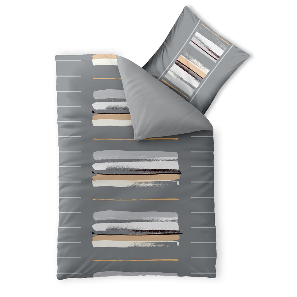 bettw sche bett garnitur baumwolle renforc rei verschluss 2 tlg 155x220 trend ebay. Black Bedroom Furniture Sets. Home Design Ideas