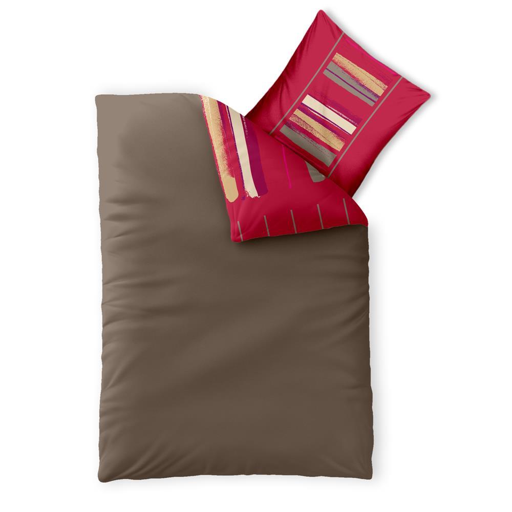 bettw sche bettgarnitur 155x220 baumwolle rei verschluss 2 tlg ko tex trend ebay. Black Bedroom Furniture Sets. Home Design Ideas