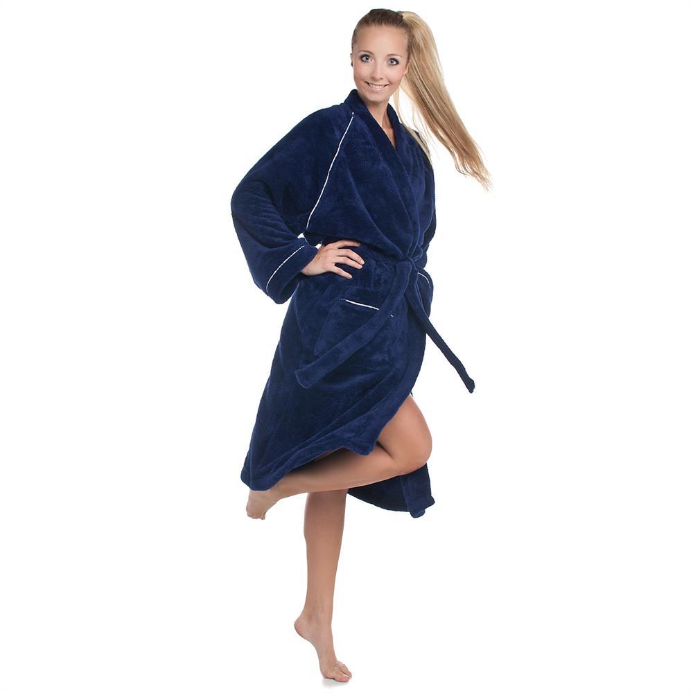 bademantel morgenmantel sauna microfaser damen herren kapuze kimono uni wellsoft ebay. Black Bedroom Furniture Sets. Home Design Ideas