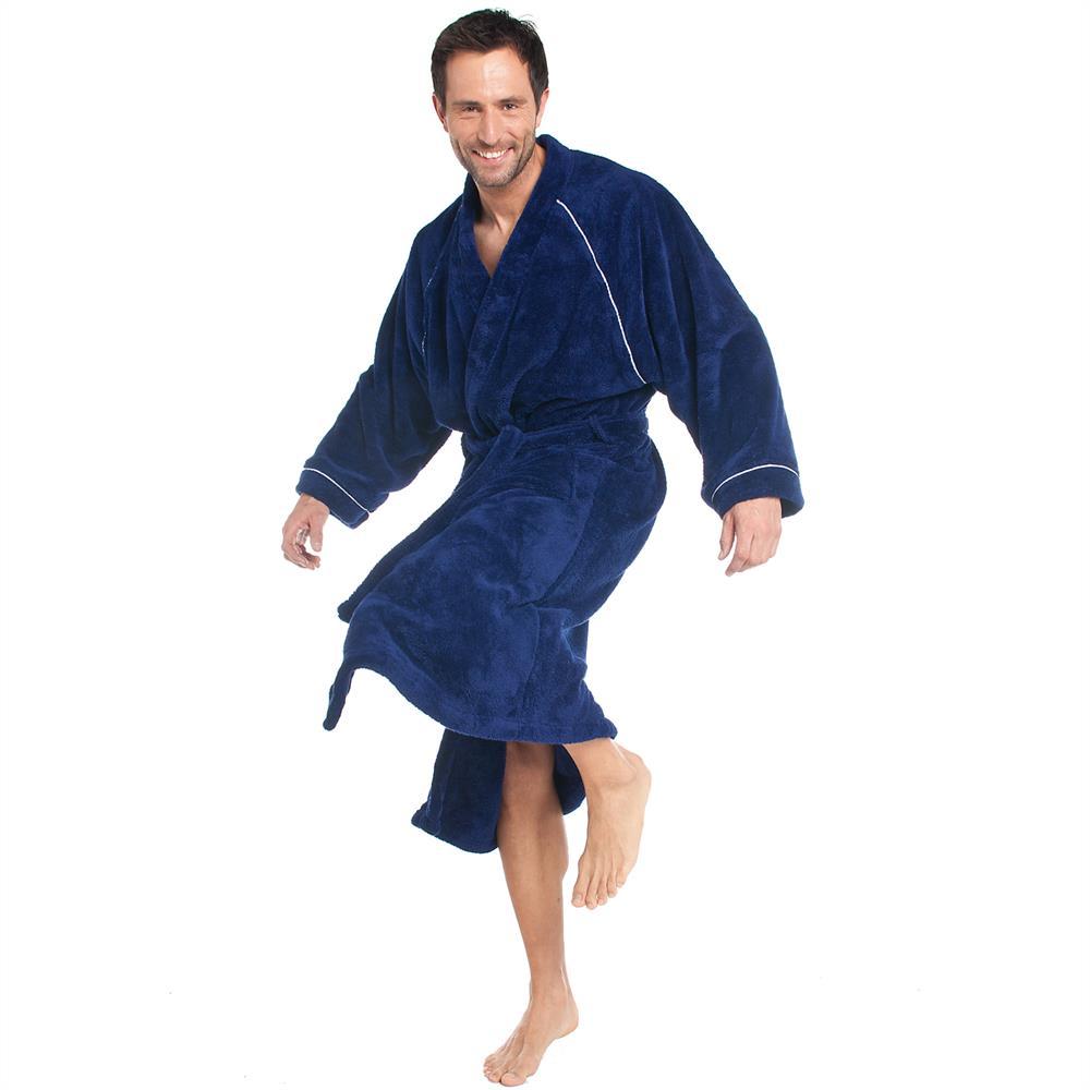 bademantel morgenmantel sauna microfaser kapuze kimono. Black Bedroom Furniture Sets. Home Design Ideas