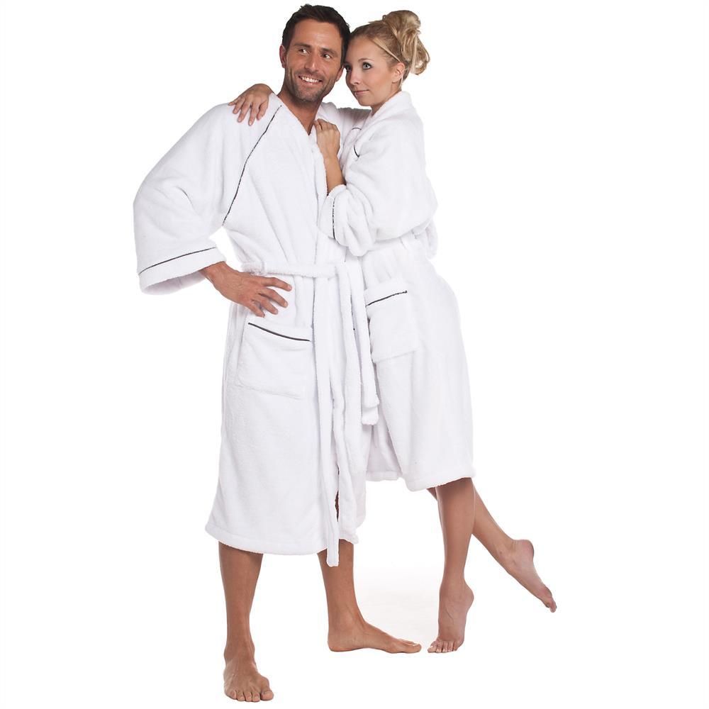 bademantel morgenmantel saunamantel wellness damen herren microfaser wellsoft ebay. Black Bedroom Furniture Sets. Home Design Ideas